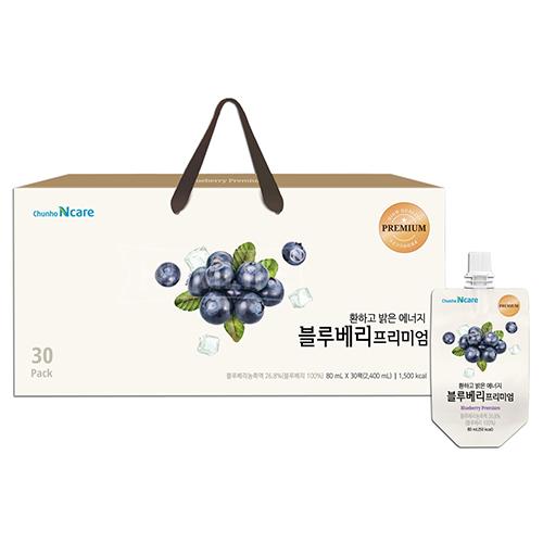 [천호식품] 환하고 밝은 에너지 블루베리프리미엄 80ml*30개입 (업체별도 무료배송)