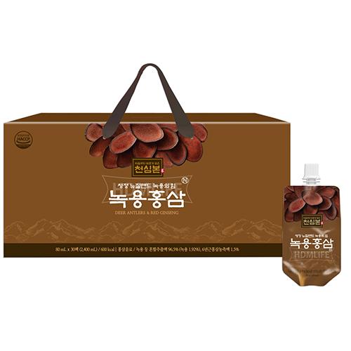[천호식품] 녹용의힘 녹용홍삼 80ml*30개입 (업체별도 무료배송)
