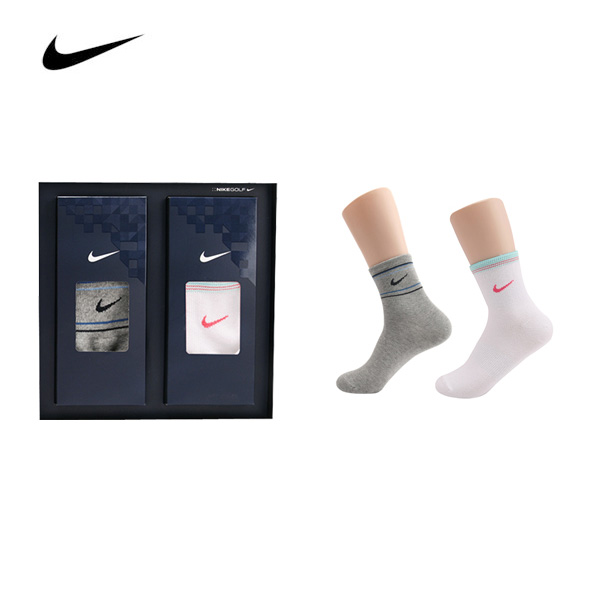 [나이키]  남녀혼합 링글 스포츠 양말 2족 세트 + 박스포장 (업체별도 무료배송)