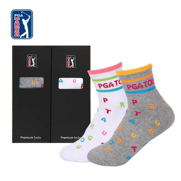 PGA TOUR 골프스포츠 양말(드라이쿨)여성용 1족