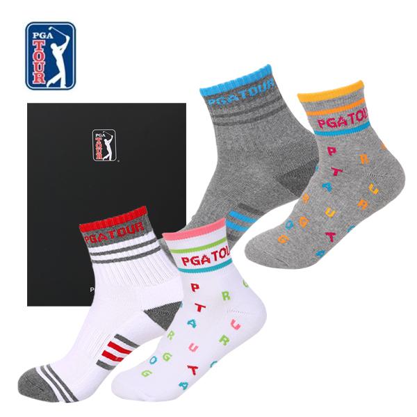 PGA TOUR 골프스포츠 양말(드라이쿨)남녀혼합 2족